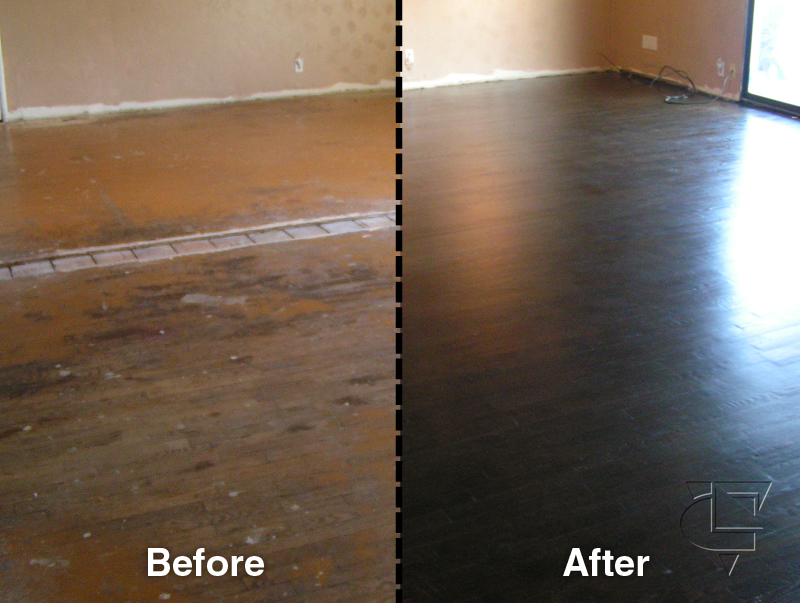 A blog of all sections with no images oakland wood floors for Before and after flooring