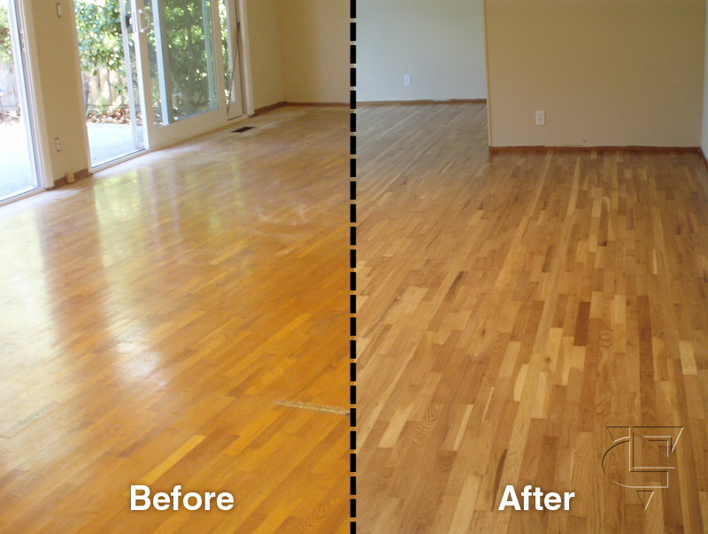 BeforeAfter-030 - Hardwood Floor Stain - Stain Colors , Stain Pictures - OAKLAND