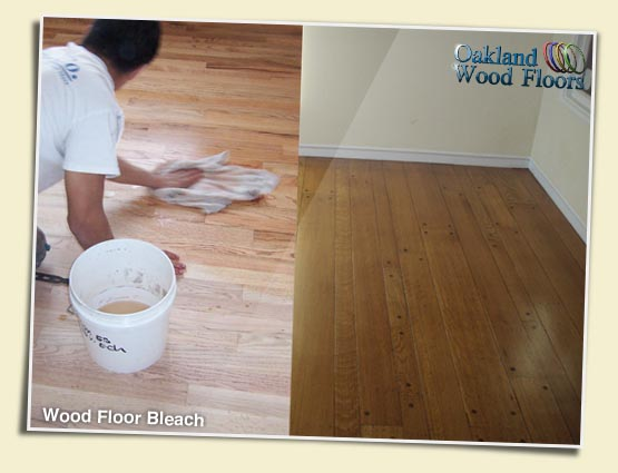 Black urine stains on hardwood floors wood floors for Bleach on concrete floor