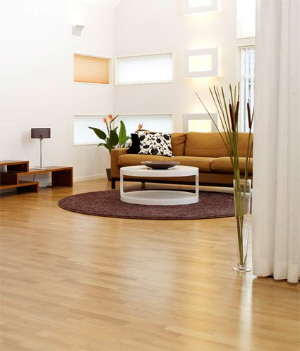 Oak floors with bona water base Strong finish